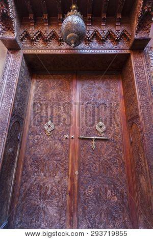 Old Door In Marrakesh. Marrakesh, Marrakesh-safi, Morocco.