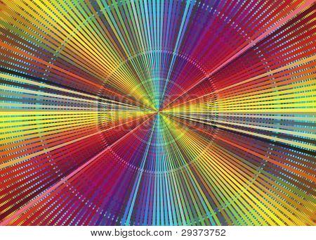 Rainbow color chart
