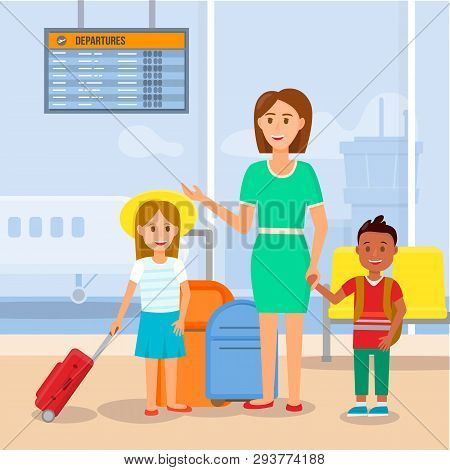 Mother Travelling Vector & Photo (Free Trial) | Bigstock