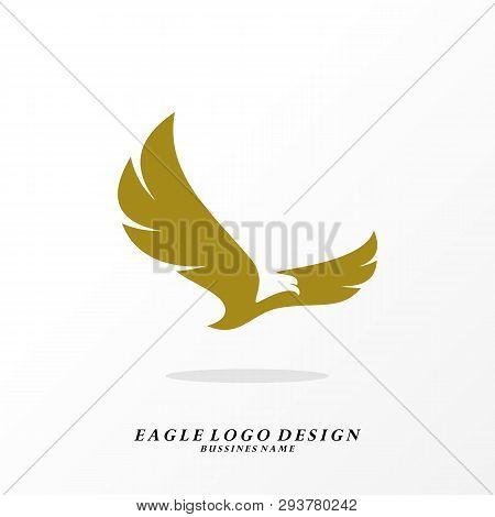 Eagle Logo Design Vector. Simple Eagle Logo Template. Icon Symbol