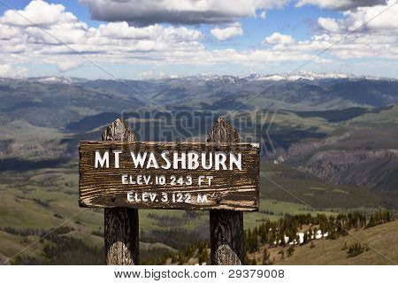 Mt. Washburn, Yellowstone Park