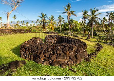 Talietumu Pr Kolo Nui, Archaeological Site In Uvea Or Wallis Island, Wallis And Futuna, Oceania, Sou