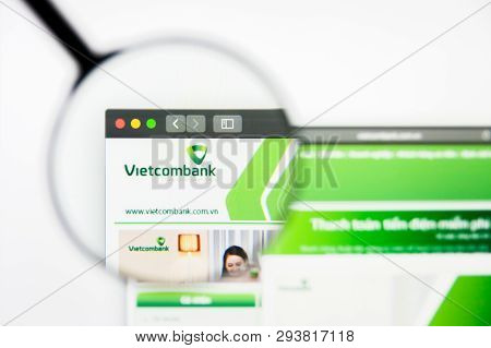 Los Angeles, California, Usa - 5 April 2019: Illustrative Editorial Of Vietcombank Website Homepage.