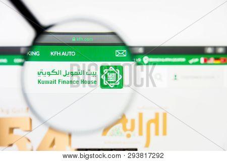 Los Angeles, California, Usa - 5 April 2019: Illustrative Editorial Of Kuwait Finance House Website