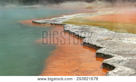 Red Edge Of Champagne Thermal Pool Near Rotorua On The North Island Of Nz