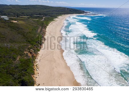 Aerial View Of Catherine Hill Bay - Looking North. This Area On The Central Coast Of Nsw Has Some Gr