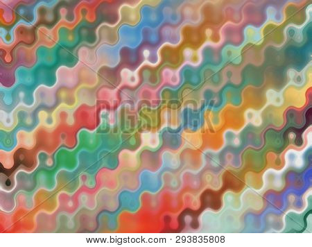 Abstract Modern Art Background Design With Diagonal Striped Pattern With Zigzag Effect In Colors Of