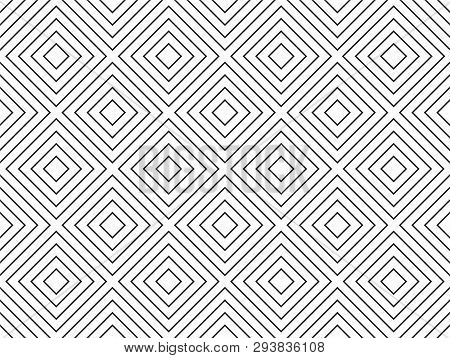 Seamless Geometric Texture. The Background Consists Of Diamonds Located At An Equal Distance. Seamle
