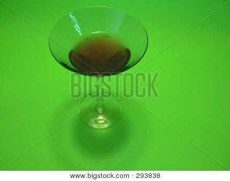 Glass On Chromakey Background