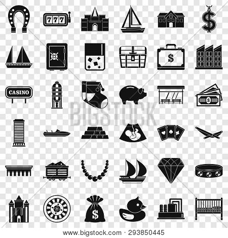 Finance Icons Set. Simple Style Of 36 Finance Vector Icons For Web For Any Design