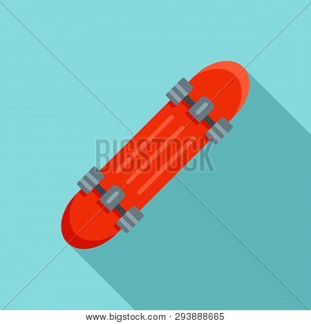 Penny Board Icon. Flat Illustration Of Penny Board Vector Icon For Web Design