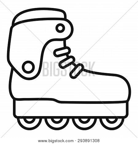 Carbon Inline Skates Icon. Outline Carbon Inline Skates Vector Icon For Web Design Isolated On White