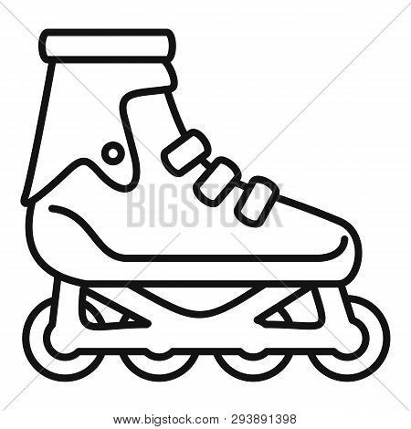 Modern Inline Skates Icon. Outline Modern Inline Skates Vector Icon For Web Design Isolated On White