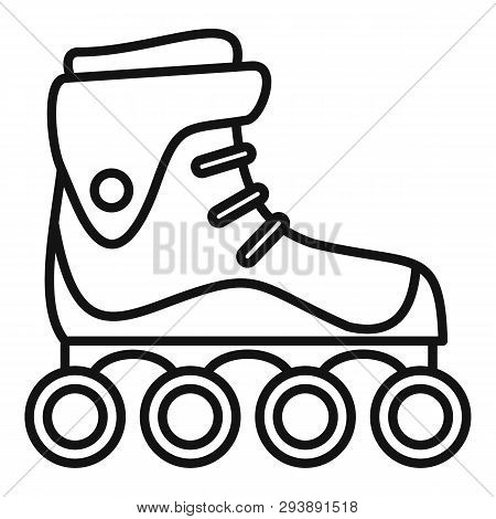 Freestyle Inline Skates Icon. Outline Freestyle Inline Skates Vector Icon For Web Design Isolated On