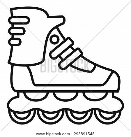 Sport Inline Skates Icon. Outline Sport Inline Skates Vector Icon For Web Design Isolated On White B