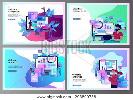 Concept Illustration Of Business, Office Workers Analysis Of The Evolutionary Scale, Seo, Market Res