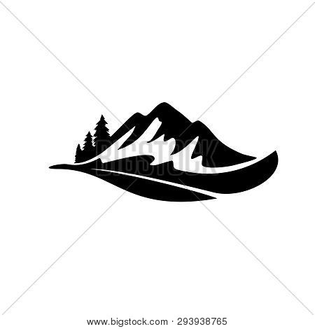 Mountain Logo, Hills Logo, Mountain Symbol, Mountain Icon, Mountain Logo Templat, Vector Design Elem