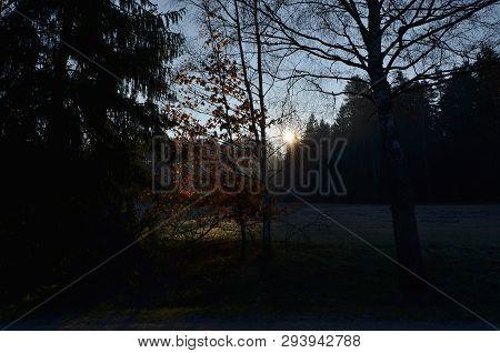 View Ofspring Landscape, Southern Bohemia . Czech Republic