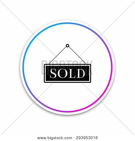 Sold Sign Isolated On White Background. Sold Sticker. Sold Signboard. Circle White Button. Vector Il
