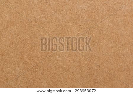 Close Up Recycle Cardboard Or Brown Board Kraft Paper Box Texture Background.