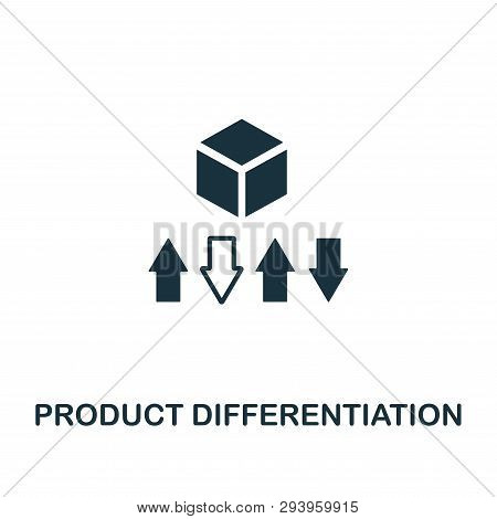 Product Differentiation Icon. Creative Element Design From Content Icons Collection. Pixel Perfect P