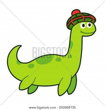 Loch Ness Monster In Traditional Scottish Bonnet