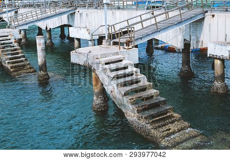 Pier And Ocean. Pier Of The Thailand In Pattaya