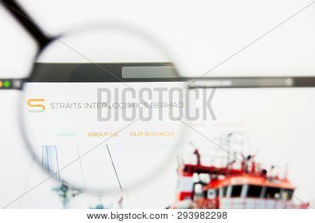 San Francisco, California, Usa - 29 March 2019: Illustrative Editorial Of Straits Inter Logistics We