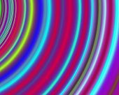 Generative Art Concentric Circles Neon Green Red Cyan Yellow poster