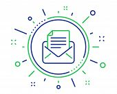 Mail correspondence line icon. Read Message sign. E-mail symbol. Quality design elements. Technology mail correspondence button. Editable stroke. Vector poster