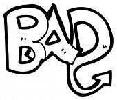 bad word cartoon (raster version) poster