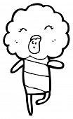 cute cloud creature cartoon (raster version) poster