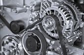 Part of car engine poster