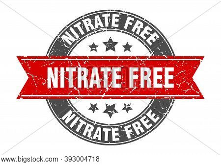 Nitrate Free Round Stamp With Ribbon. Label Sign