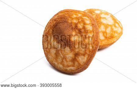 Pancakes Hotcakes Homemade  Isolated On White Background