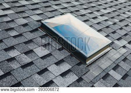 roof window on shingles flat polymeric roof-tiles