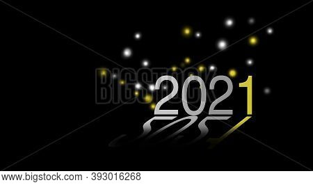 Illustration Of New Year 2021, Whishes Of A Fantastic Year