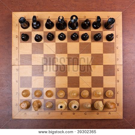 chess board on top
