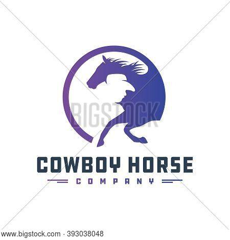 Cowboy Rider Logo Design Your Company Or Brand