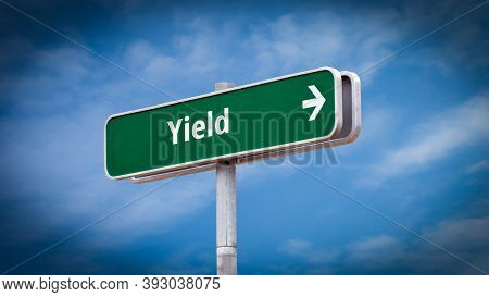 Street Sign The Direction Way To Yield