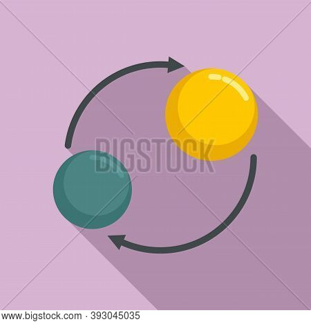 Solar Planet Gravity Icon. Flat Illustration Of Solar Planet Gravity Vector Icon For Web Design