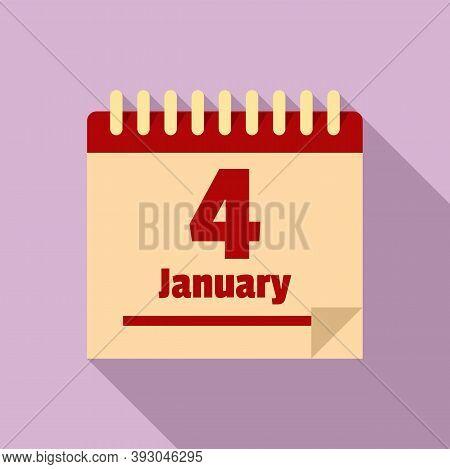 January Newtons Day Icon. Flat Illustration Of January Newtons Day Vector Icon For Web Design