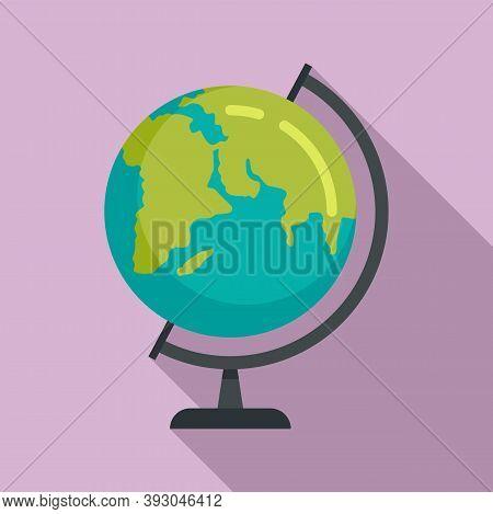 School Globe Icon. Flat Illustration Of School Globe Vector Icon For Web Design