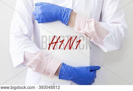 H1n1 Virus, Pneumonia Concept, Viral Disease, Flu.