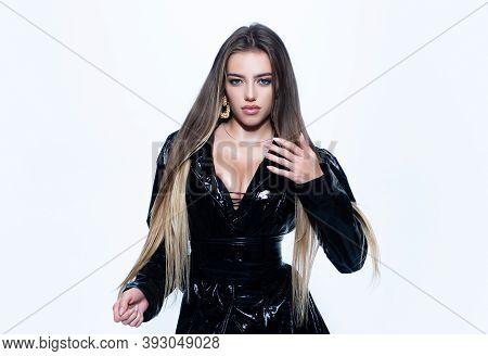 Mistress Lady, Kinky. Beautiful Fetish Woman In Latex