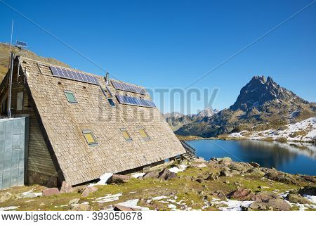 Ayous Shelter in Ossau Valley, Pyrenees National Park, Pyrenees in France.