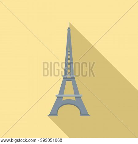 French Eiffel Tower Icon. Flat Illustration Of French Eiffel Tower Vector Icon For Web Design