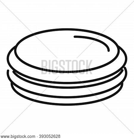 French Macaroon Icon. Outline French Macaroon Vector Icon For Web Design Isolated On White Backgroun