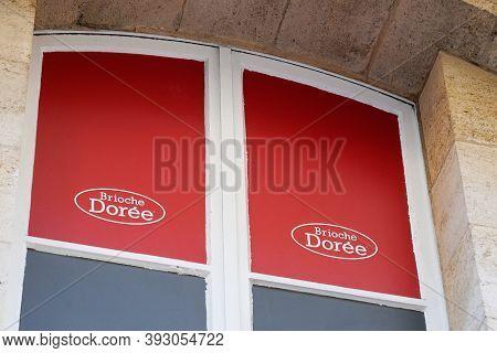 Bordeaux , Aquitaine / France - 11 01 2020 : Brioche Doree Logo Sign Store Bakery Shop Brioche Dorée
