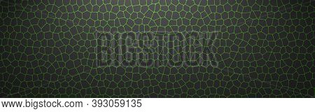 Green Lines Pattern On Black Background. Mosaic Of Green Lines. Vector Illustration